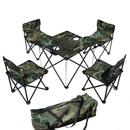 Ruirui draagbare klaptafels en stoelen outdoor vrijetijdskleding canvas picknick- en stoelen vijf sets