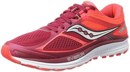 Saucony Guide 10, Zapatillas de Running para Mujer, Multicolor (Berry/Coral), 38 EU