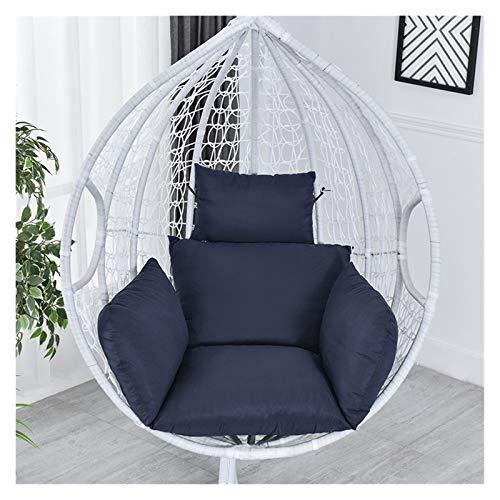 Cojín de asiento para silla, hamaca de huevo, cojín para colgar en la silla, cojín de columpio, respaldo grueso con almohada para interior y exterior, patio, jardín, silla de oficina, apoyo lumbar