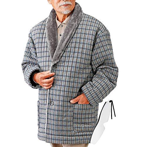 お父さんのあったかソフトガウン トロイ正規品(メンズ 暖かい冬用シャギーボアガウン ナイトガウン ルームウェア) (Sサイズ)しおり型ルーペ付き