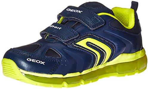 Geox J Android D, Zapatillas para Niños, Azul (Navy/Lime C0749), 33 EU
