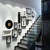 HAPzfsp モダンフォトフレーム壁/階段壁/壁掛けフォトフレーム/クリエイティブコンビネーションフォトウォール 家、オフィス、ホテル、テーマレストラン、ギャラリー、バー (Color : A)