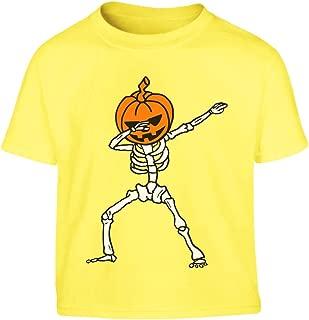 Shirtgeil La Floss Zucca di Halloween Jack O Lantern Maglietta per Bambini e Ragazzi