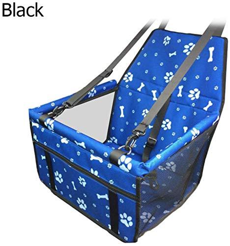 Dsnmm Huisdier Stoel Cover Auto Huisdier Mand Mini Opvouwbare Veiligheid Zitzak Hond Kat Pakket Huisdier Stoel Cover-Zwart, Blauw