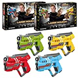 ToyStar Laser Tag Combat X-1000, Multiplayer Infrared Gun Battle Game, Bumper 4 Pistol