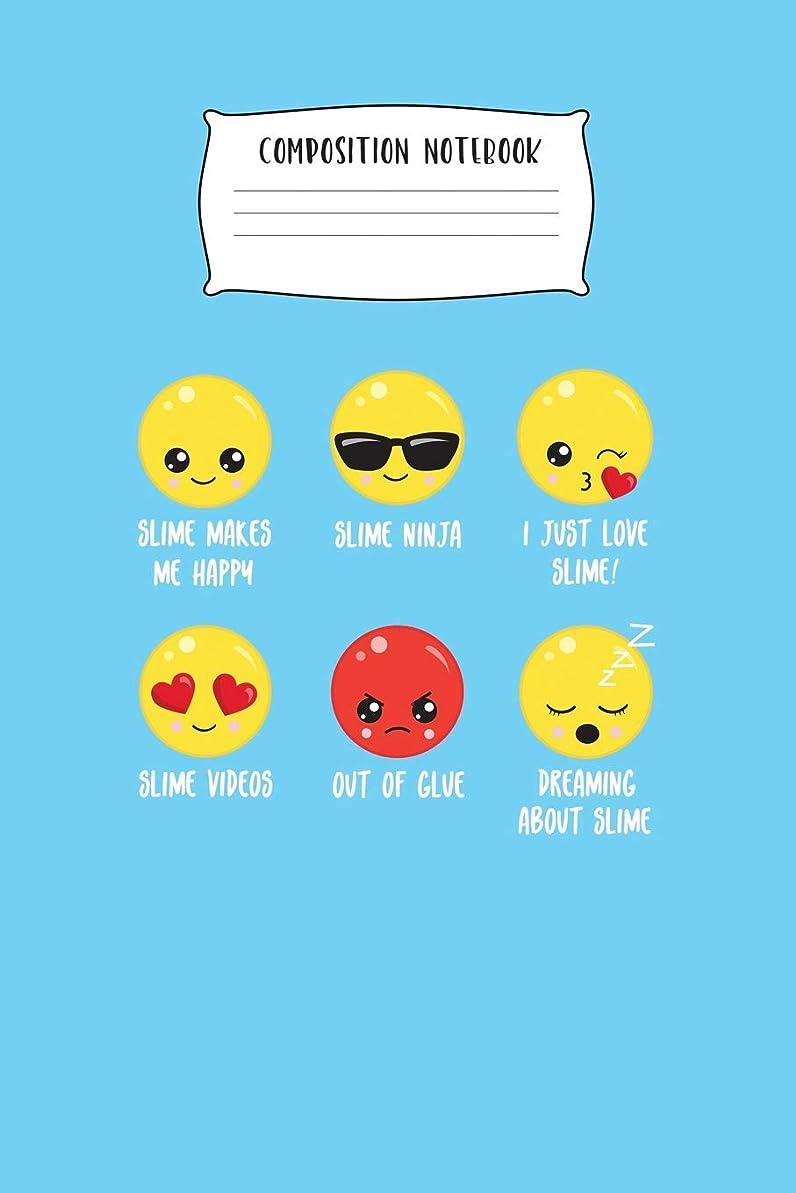 億ボックスファイターComposition Notebook: Slime Emoji Wide Ruled Composition Notebook for Girls Blank Lined Journal