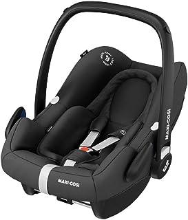 Maxi-Cosi Rock i-Size Silla Auto Grupo 0+, portabebé aprobado para viajar en avion, silla coche bebé recién nacido hasta 12 meses, color essential black