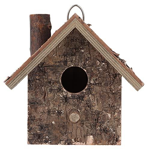 BORDSTRACT Casetta di nidificazione per Uccelli da Appendere in Legno Naturale, Stazione di Alimentazione per scoiattoli Casetta per Farfalle per Giardino