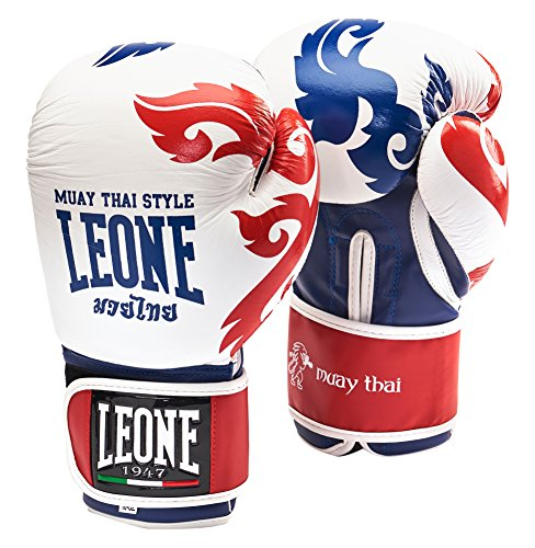 0 Leone 1947 Muay Thai Boxhandschuhe, Weiß, 10 Uz
