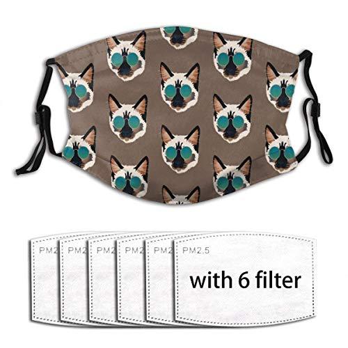 Coole Mese Cat - Gafas de sol con cuello japonés, 6 filtros, lavables, para el polvo, bandanas para el cuello y el viento
