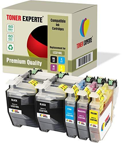 Pack 5 XL TONER EXPERTE® Compatibles LC3219XL Cartouches d'encre pour Brother MFC-J5330DW MFC-J5335DW MFC-J5730DW MFC-J5930DW MFC-J6530DW MFC-J6930DW MFC-J6935DW (2 Noir, Cyan, Magenta, Jaune)