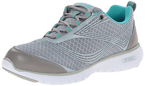 Propét TravelLite-W - Zapatillas para Mujer, Color Plateado, Talla 38 EU Schmal