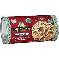 Immaculate Baking Organic Cinnamon Rolls, Ready to Bake Cinnamon Rolls with Icing, 5 Rolls, 17.5 oz