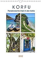 Korfu - Paradiesische Insel in der Adria (Wandkalender 2022 DIN A4 hoch): Die gruenste aller griechischen Inseln (Monatskalender, 14 Seiten )
