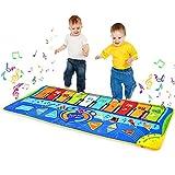 m zimoon Alfombra Musical, Alfombra de Baile 8 Instrumentos Suenan Alfombra Piano Alfombra de Teclado para Niños Instrumentos Juguetes Musicales para Niños Niñas (127 * 47 cm)