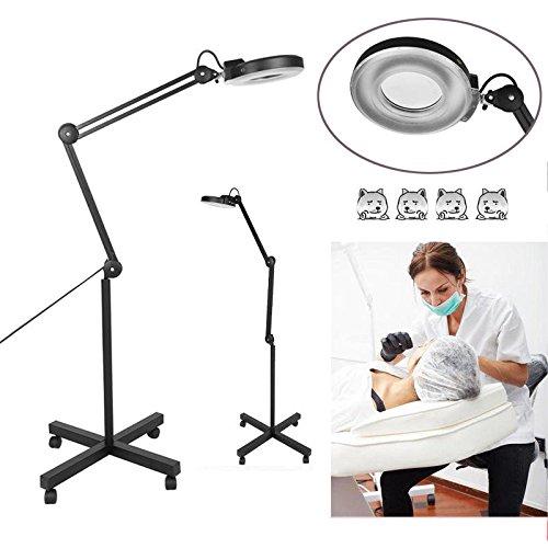 Preisvergleich Produktbild Lupenleuchte 15W LED Kaltlicht Lupenlampe 5 Dioptrien Standlupe Mit Stativ