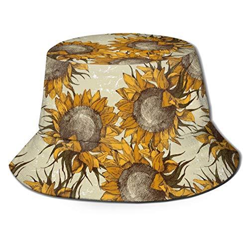 LBTD Sonnenhut im Vintage-Stil, gelbe Sonnenblumen