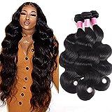 Brazilian Virgin Hair Body Wave Bundles 10A Unprocessed Brazilian Human Hair Weave Body Wave Hair Weave Extensions Brazilian Body Wave Human Hair 3 Bundles Body Wave (20 22 24 inch)