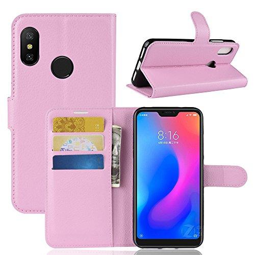 Capa Capinha Carteira Flip Wallet Case 360 Xiaomi Mi A2 Lite De Tela 5.84Couro Sintético Pronta Entrega (Rosa Claro)