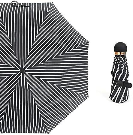 ZGMMM Paraguas Lluvia Mujer Regalo Hombres Mini Bolsillo Sombrilla Niñas Anti-UV Impermeable Viaje portátil Francia Mostrar como Foto
