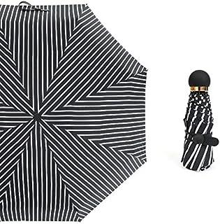 Perletti Mini Paraguas Automatico Resistente Compacto y Antiviento Paraguas de Viaje Bolso Juvenil Apertura Manual 97 cm de Di/ámetro Paraguas Plegable Mujer Estampado Jeans Negro