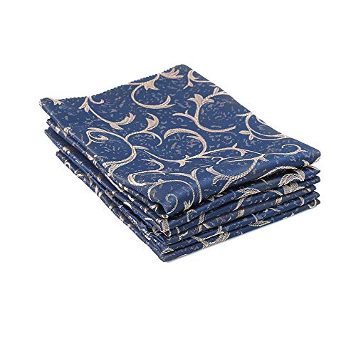 Foaynn Cloth Dinner Napkins Cloth Napkins Decorative Napkins Fabric Swatches Great for Weddings Parties Holiday Dinner Set of 6 Table Cloth Napkins (19X19 INCH) Royal Blue