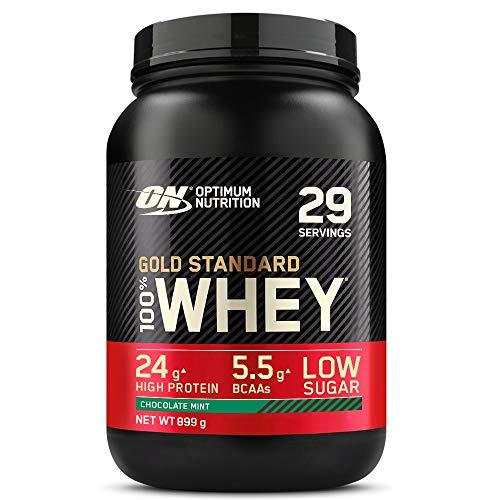 Optimum Nutrition Gold Standard 100% Whey Protein Powder - 908 g, Chocolate Mint