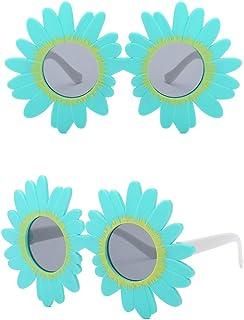 Gniherii - Gafas de sol redondas antiUV para niñas y niños, diseño de flores vintage, coloridas y bonitas, ideales para fiestas, fotografías, playa, al aire libre