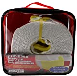 Erickson 59800 White 3' x 30' Recovery Strap,27,000 lbs Breaking Strength,...