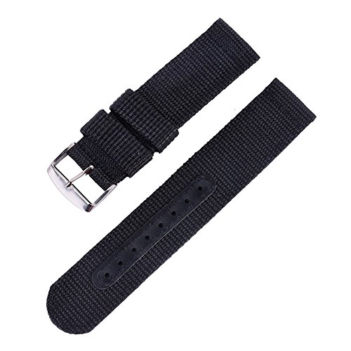 Wingbind - Correa de reloj impermeable para exteriores (correa de repuesto, 18 mm, 20 mm, 22 mm, 24 mm, para mujeres y hombres)