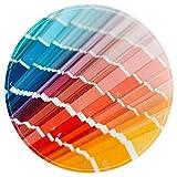 EZIOLY Catálogo de colores de muestra. Alfombra redonda antideslizante lavable para sala de estar, dormitorio, cocina, sala de juegos, 40 x 40 cm