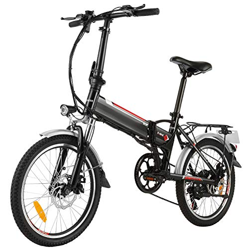 Speedrid 20'/ 26' / 27,5'bici elettrica/city ebike/escursionismo e-bike/mountain e-bike dotata di batteria agli ioni di litio 36V / 10Ah / 12,5Ah per uomini donne adulti. (36V/8Ah 20'' nero)