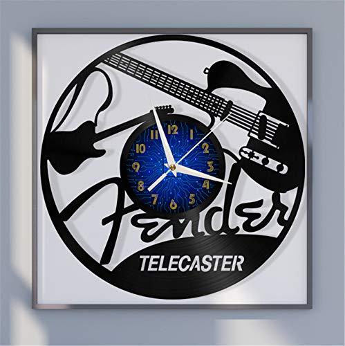 Reloj de Pared con Disco de Vinilo de 12 Pulgadas con Tema...