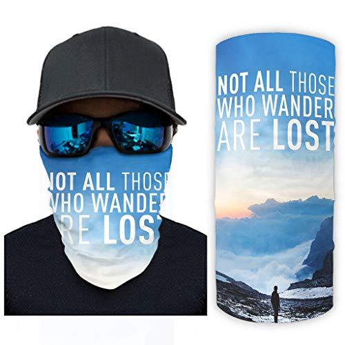 CCMugshop Bandanas para hombre, diseño de paisaje, color blanco, talla única