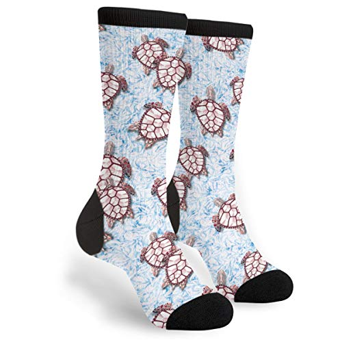 Turtle Blaze Women's Men's Crew Socks Casual Fun Dress Socks Long Cute Socks