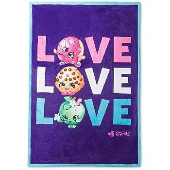 "Shopkins Love Sherpa Bed Blanket (60""x90"") Pu | Shopkin.Toys - Image 1"