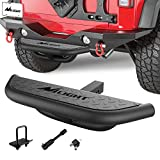 """Nilight Hitch Step with 2"""" Hitch Receiver Rear Bumper Guard Protector Compatible with Car Truck Vehicles Upgraded Textured Black Hitch Step Bar with Hitch Lock & U-Bolts Stabilize,2 Years Warranty"""