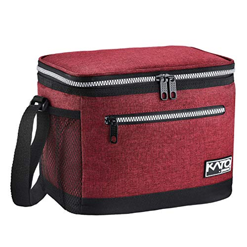Insulated Lunch Bag for Women Men, Leakproof Thermal Reusable Lunch Box for Adult & Kids by Tirrinia, Lunch Cooler Tote for Office Work, Red