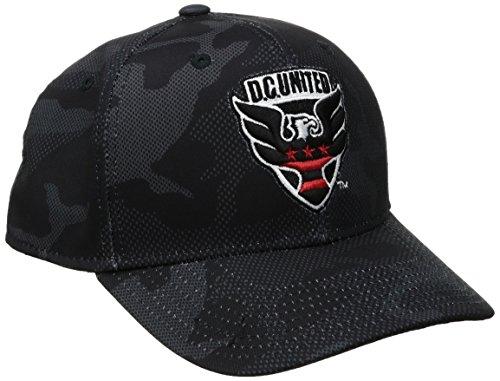 adidas MLS D.C. United Adult Men MLS SP17 Fan Wear Tonal Camo Structured Adjustable Cap,OSFM,black