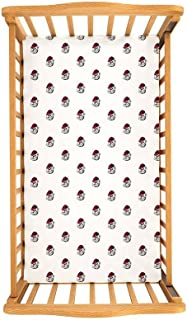 Wes and Willy University of Georgia Organic Cotton Fitted Baby Crib Sheet, White