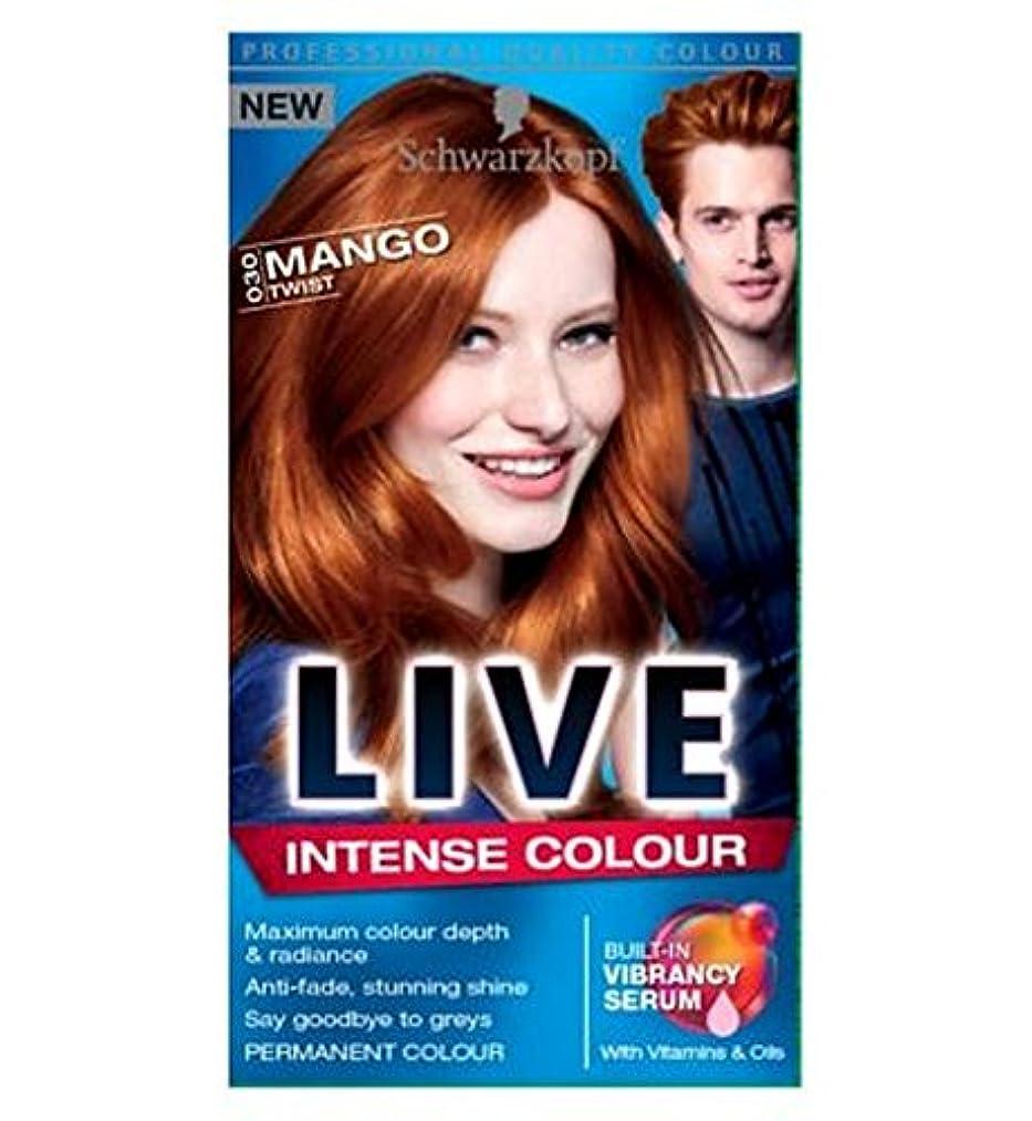 動機活気づく代数ライブ強い色のマンゴーツイスト030 (Schwarzkopf) (x2) - LIVE Intense Colour Mango Twist 030 (Pack of 2) [並行輸入品]