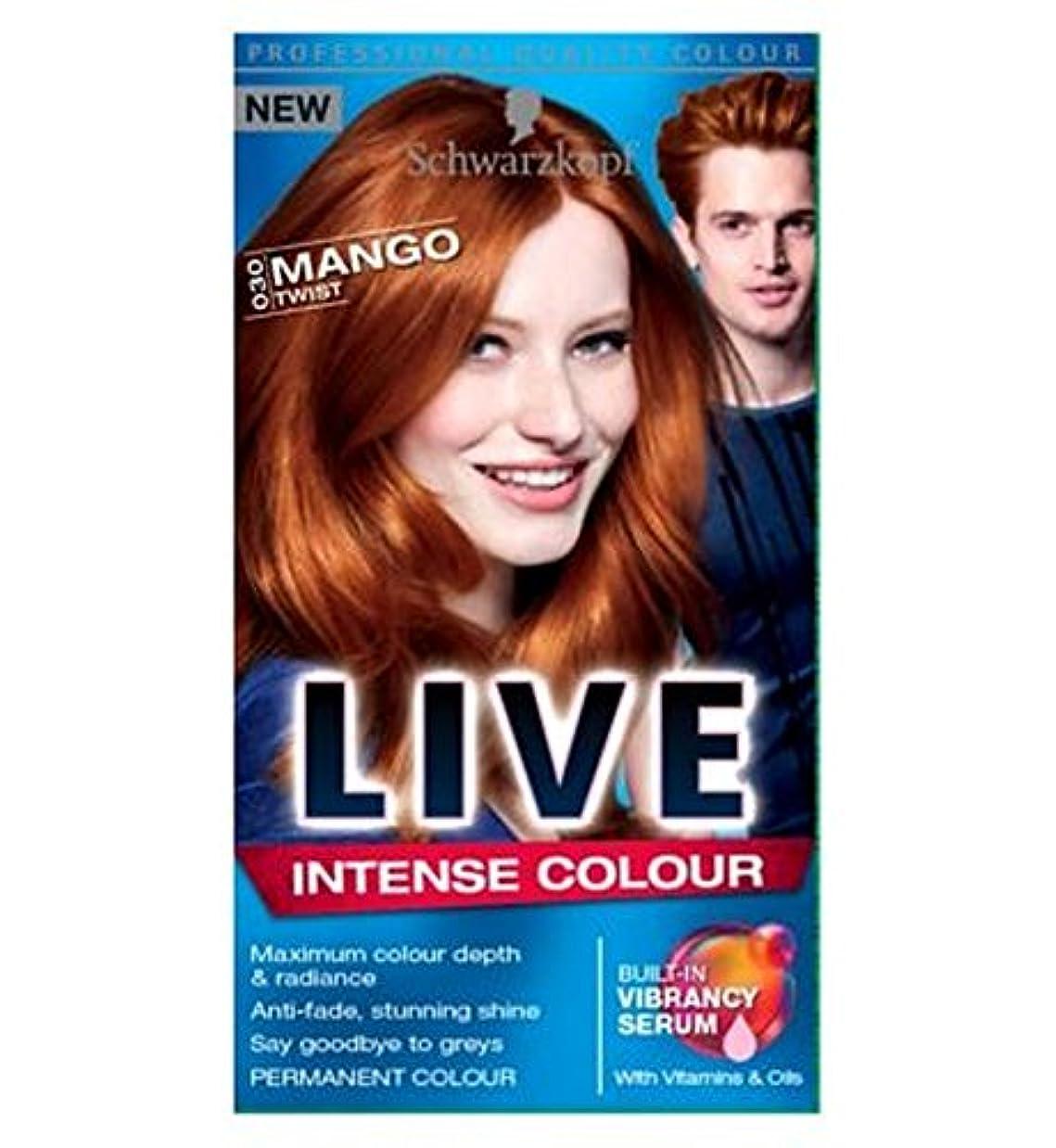 暴行有毒レッドデートライブ強い色のマンゴーツイスト030 (Schwarzkopf) (x2) - LIVE Intense Colour Mango Twist 030 (Pack of 2) [並行輸入品]