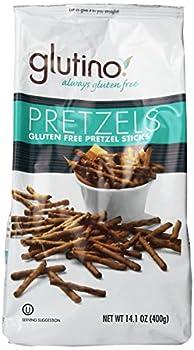 Glutino Gluten Free Pretzel Sticks 14.1-Ounce Bags  Pack of 12