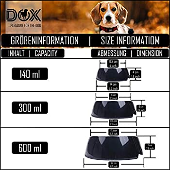 DDOXX Gamelle Anti Glouton pour Chien, Antidérapante | Nombreuses Couleurs & Tailles | pour Petit, Moyen Gros & Grand | Bol d'alimentation Lente en Mélamine Chat Chiot | Blanc, 140 ML