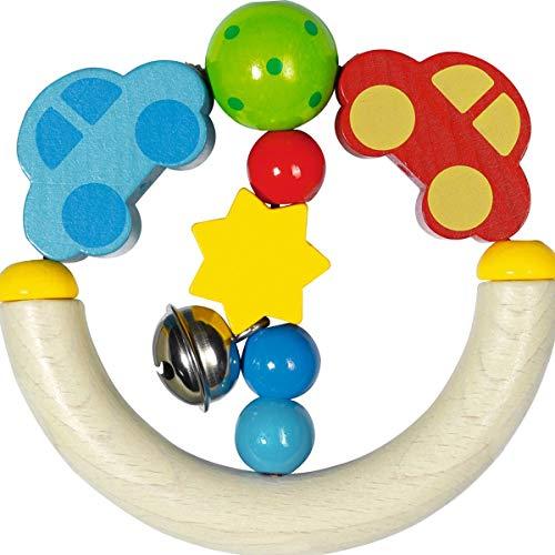 solini Le hochet Voiture jouet à saisir, naturel/multicolore