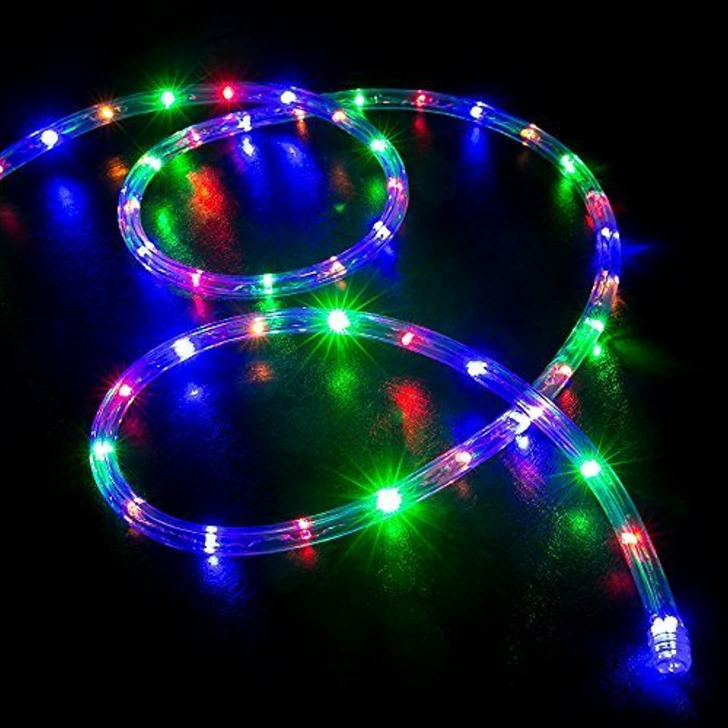 WYZworks 300' feet Multi-RGB LED Rope Lights - Flexible 2 Wire Accent Holiday Christmas Party Decoration Lighting | UL Certified