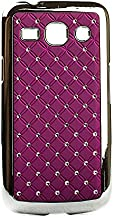 Videotronix Stone Studded Diamond Hard Back Case Cover for Samsung Galaxy Star Advance G350E Purple