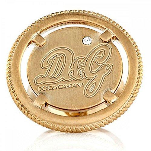 Dolce&Gabbana D&G Dolce Gabbana - DJ0629 - Anillo de Mujer de Acero Inoxidable con circonitas (Talla: 14)