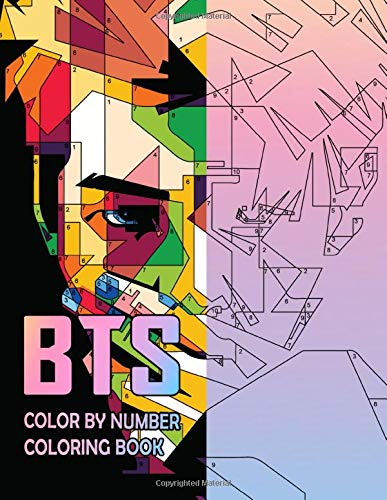 BTS Coloring By Number: Unique Design for Color By Number - Funny Kind of Coloring Books