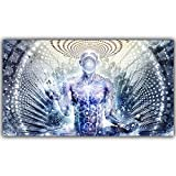 CNUSER Abstract Buddha Psychedelic Trippy Galaxy Canvas Prints Wall Art Posters Picture Painting for Living Room Bedroom Office Home Decoration Frameless